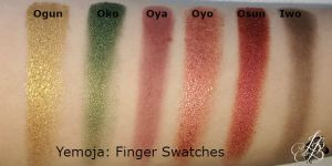 Yemoja Finger Swatches