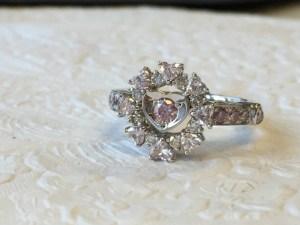 【フルオーダー例】これからの人生を祝福するピンクダイヤモンドたっぷりのリング