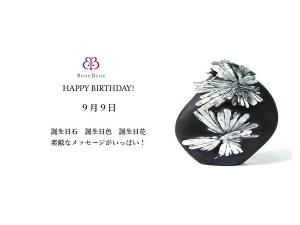 9月9日生まれのあなた。お誕生日おめでとうございます。誕生石は菊花石,意味と誕生花、プレゼントは。