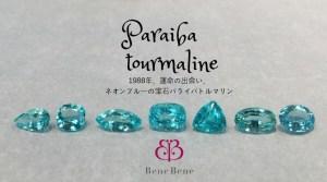 【パライバトルマリン】稀有なネオンブルーの稀少宝石を、いま、どう選ぶか?| ベーネベーネ