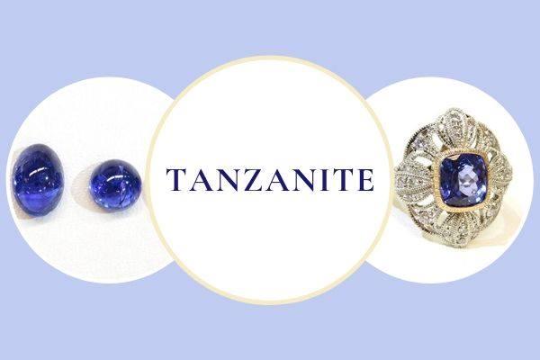 今月の新着ルースはタンザナイトカボション&繊細ミル細工が圧巻のタンザナイトリング。