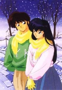 Kyoko and Godai winter snow