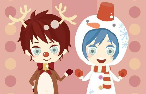 Kanba and Shouma reindeer