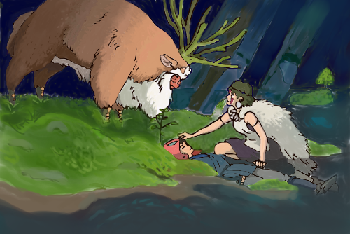 Princess Mononoke Ashitaka And The Fruit Of Peace Beneath The Tangles