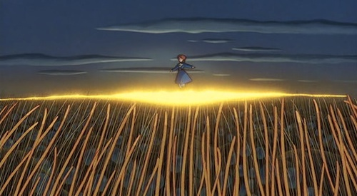 Nausicaa is literally killed by the god of the narrative (nature, or the ohmu) due to the actions of man, and then resurrected by that exact force, ultimately resulting in the coming together of Heaven and Earth. Sound familiar?