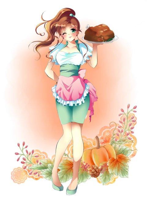 anime thanksgiving turkey