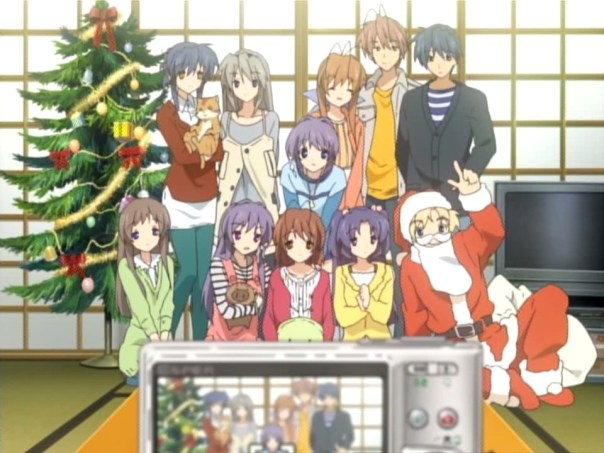 The main Clannad crew gathered for Nagisa's birthday & Christmas!