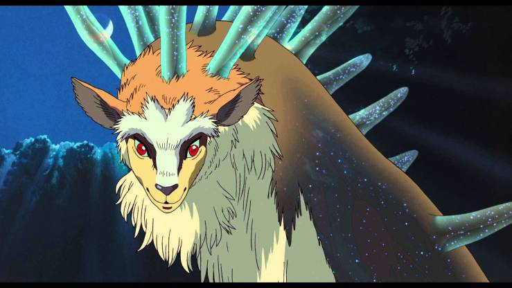 Princess Mononoke depicts many kinds of gods