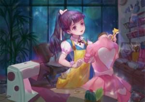 tomoyo making costume for sakura