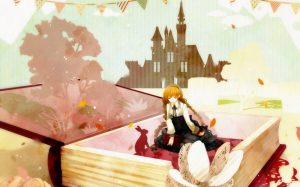 anime girl reading fairy tail