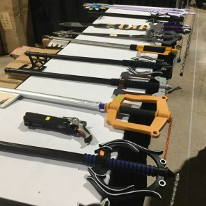 All the keyblades!!!!!