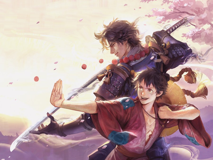 ace and luffy samurai
