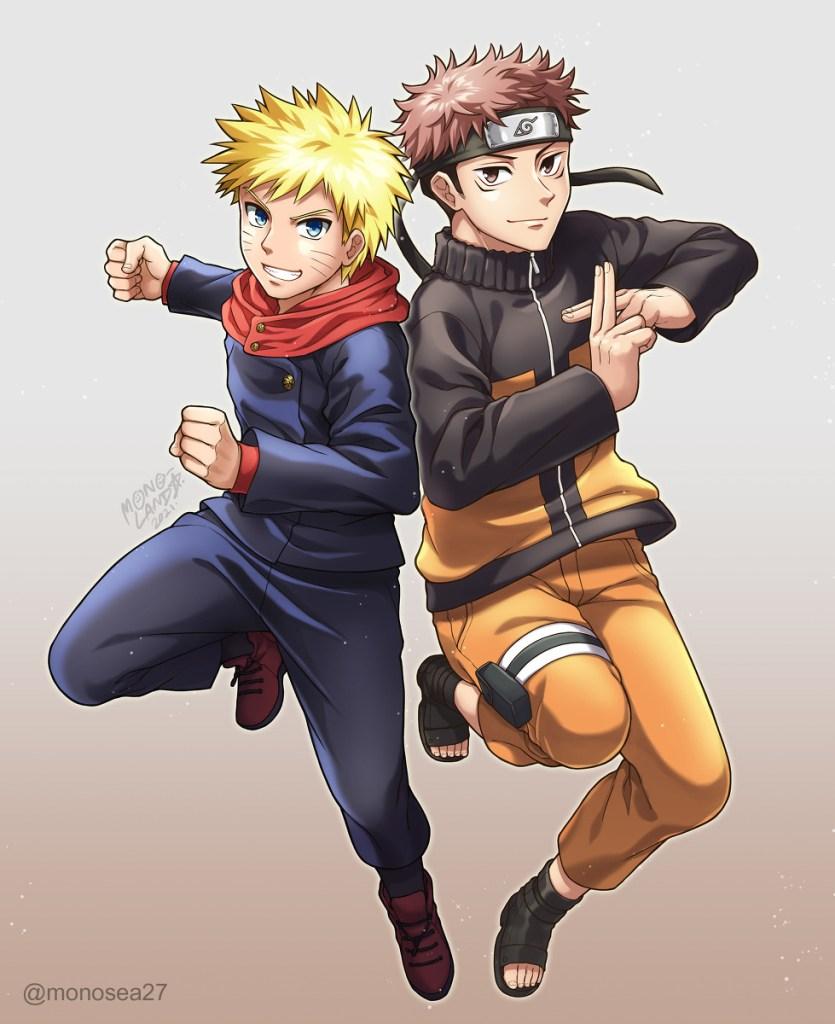 naruto and yuji itadori