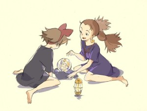 kawaii kiki's delivery service ghibli mary witch's flower