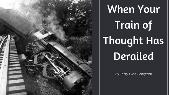 Train of thought - a derailed steam locomotive