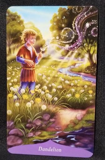 Dandelion - A yound boy standing in a field of dandelions, blowing on dandelion fluff