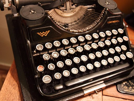 Alive and Kicking - An old fashioned typewriter