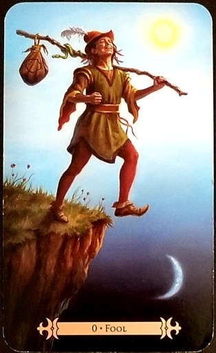 Weekly Tarot Reading : The Fool  A vagabond is about to step off of a cliff.