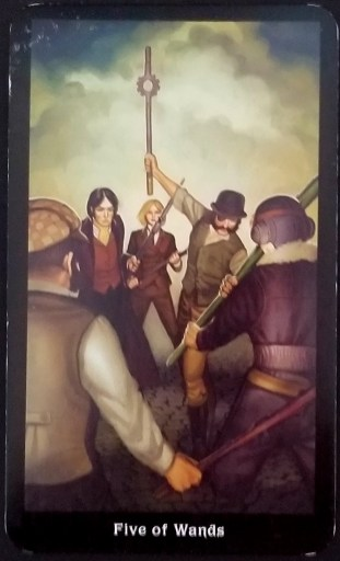 Weekly Reading - Five of Wands