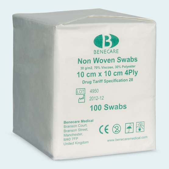 Non woven swabs packaging