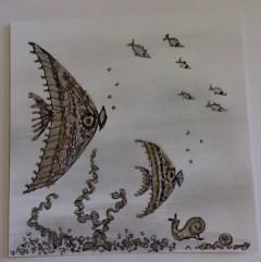 Poissons par Claire Archambault