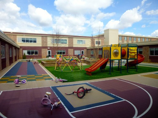 Play ground at St. Elizabeth Seton School, a placement site for Benedictine volunteers