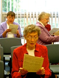 Sisters participate in choir practice