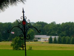 View of July 4th festivities from Mother of God Monastery