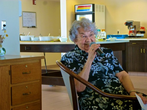 Sr. Amanda shares stories with the community