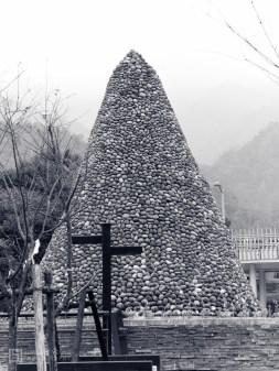 Xiaolin village memorial, stone monument