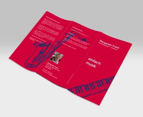 Flyer für eine Musikpädagogin