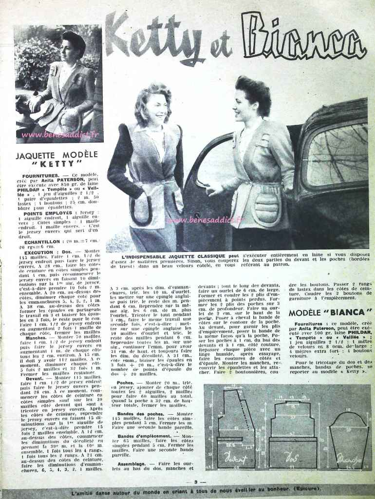 """""""Travaux d'Aiguilles 1948"""" avec 60 modèles GRATUITS, tricot, couture, loisirs créatifs"""