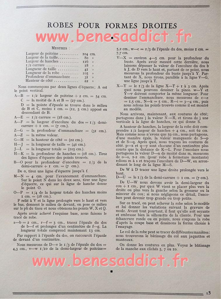 La Coupe Moderne Années 30 avec de multiples patrons à tracer à vos mesures!