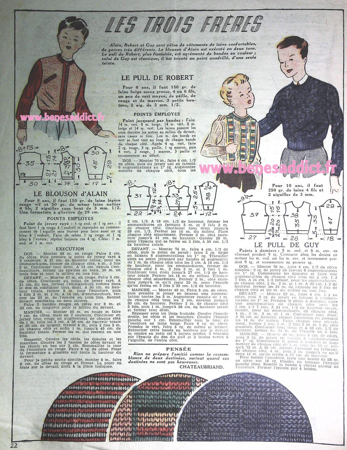 Plaisir Vintage avec 70 patrons GRATUIT 50's tricot, couture, crochet, broderie