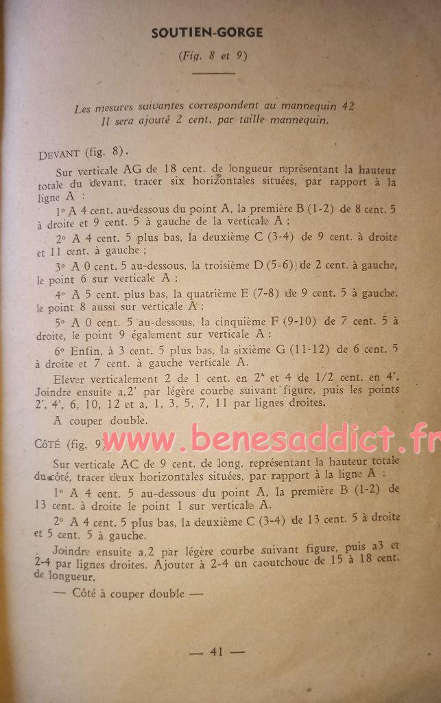 Livre de Coupe 1945 GRATUIT Avec de nombreux patrons couture Layette et Lingerie Femme!