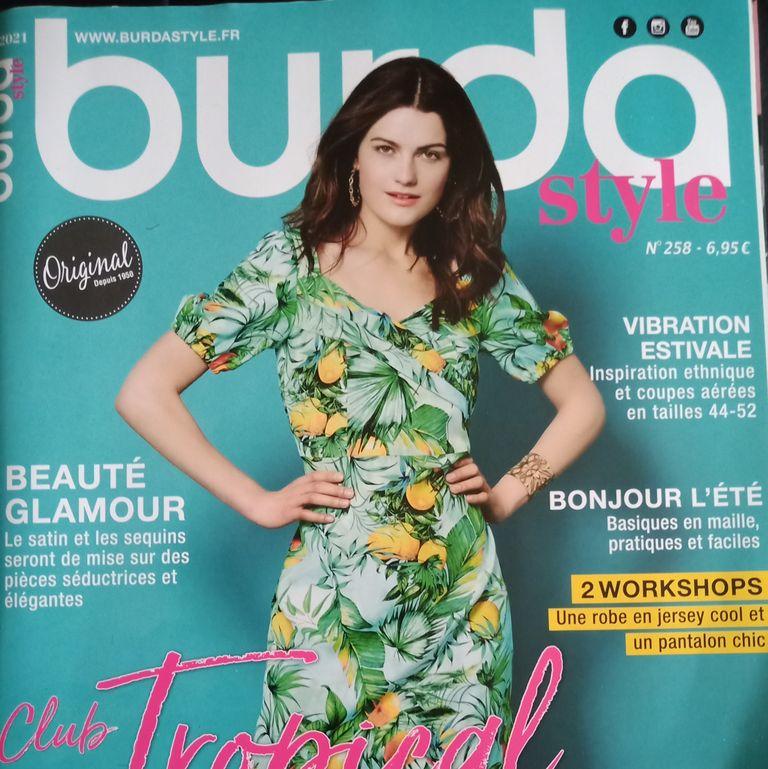 couture addict avec Burda Style n258 beauté et glamour à coudre (