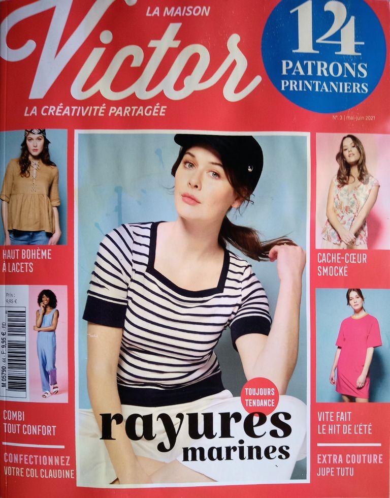 """Toujours Tendance les rayures """"La Maison Victor n°3/2021"""" avec 14 Patrons à Coudre"""