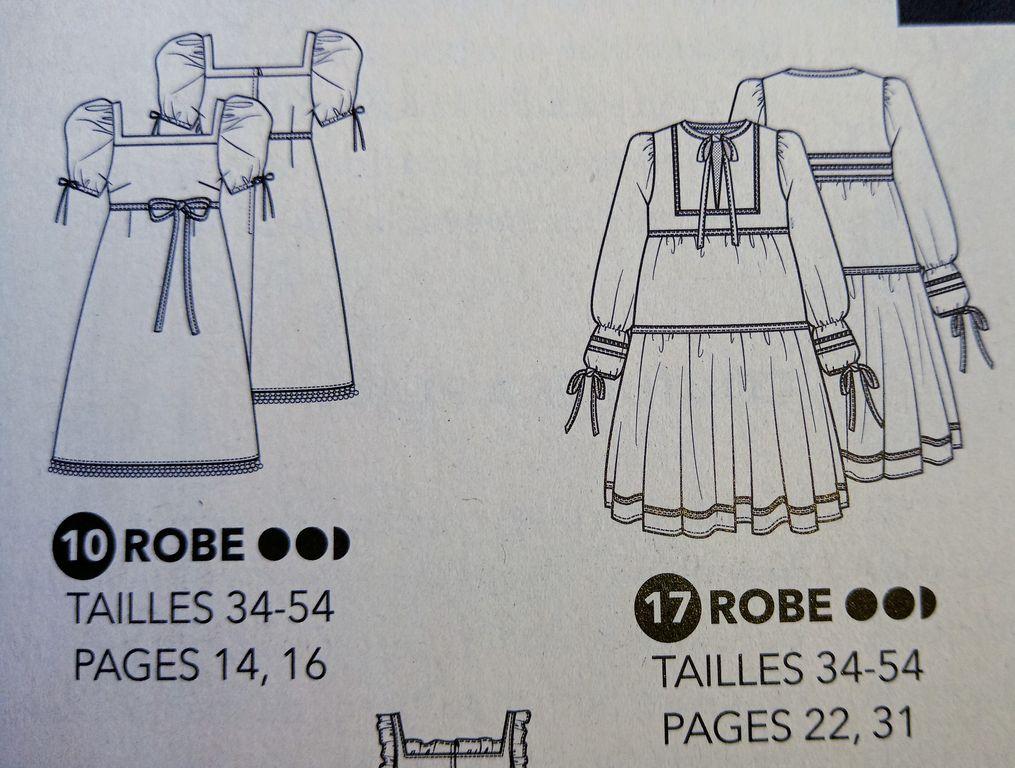 """Basiques d'été """"Fait Main n°474"""" Patrons de Robes à composer TOUS du 34 au 54"""