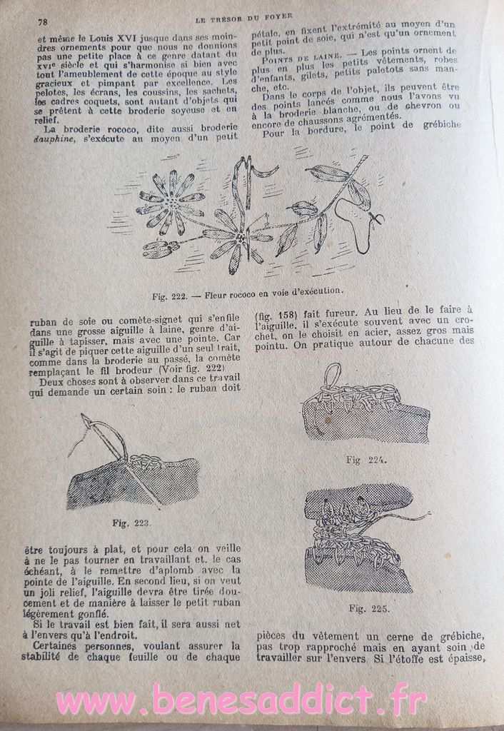 le trésor du foyer, 1928 coudre à la main, broderie, un savoir faire