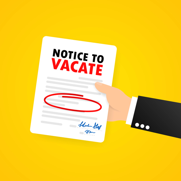 notice to vaacate
