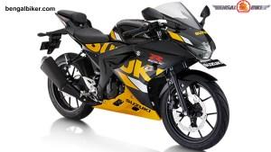 suzuki GSX-R 150 black yellow