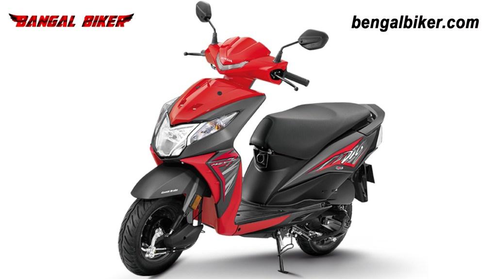 Honda Dio 110 matt red colors