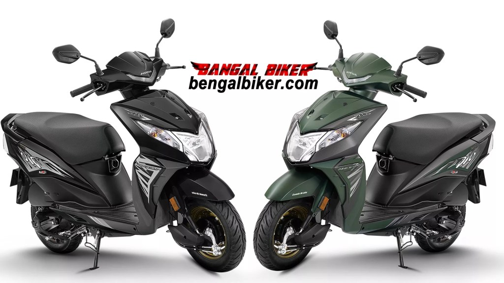 Honda Dio 110 green and black colors