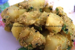 Potato in poppy seed paste