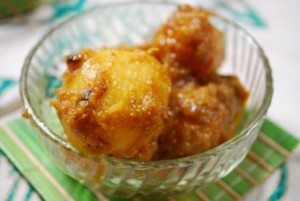 Alu Dum with rice