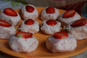 Strawberry Sandesh