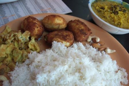 Dimer Devil with Rice and Dal