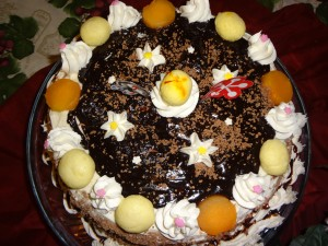 Rasgulla Blackforest Cake
