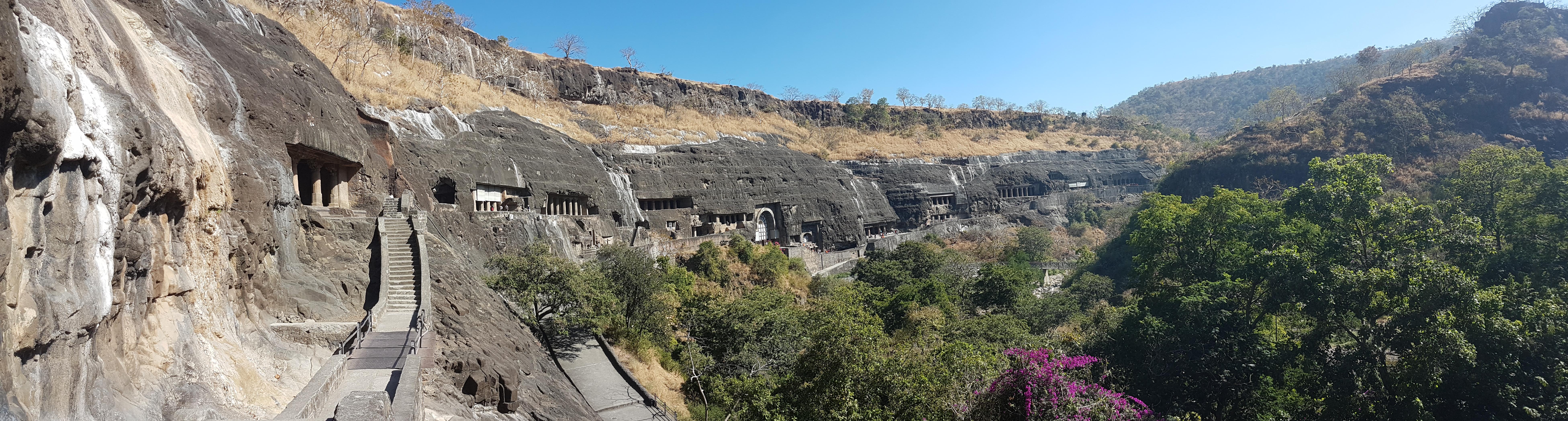 Ajanta , Ellora & Elphanta Caves en-route to Mumbai  – Ajanta