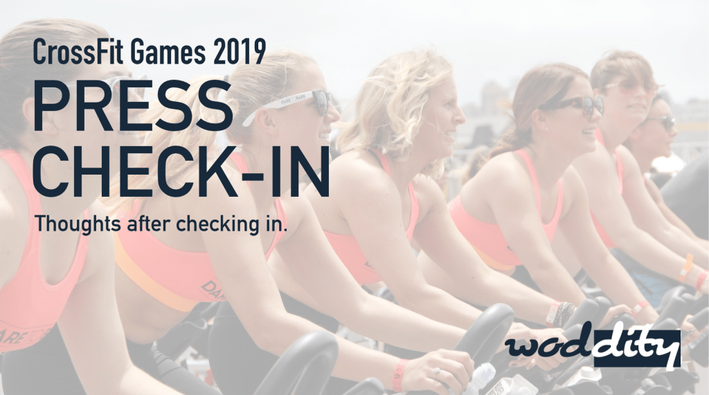 A video of our first impressions as we check in for the 2019 CrossFit Games